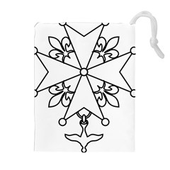 Huguenot Cross Drawstring Pouches (extra Large) by abbeyz71