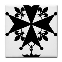 Huguenot Cross Tile Coasters by abbeyz71