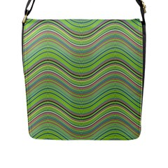 Pattern Flap Messenger Bag (l)