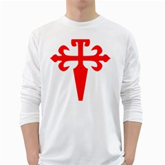 Cross Of Saint James  White Long Sleeve T Shirts by abbeyz71