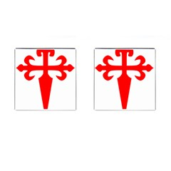 Cross Of Saint James  Cufflinks (square) by abbeyz71