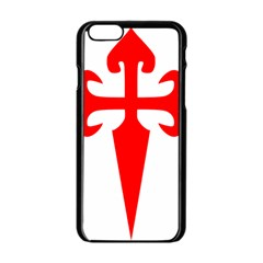 Cross Of Saint James  Apple Iphone 6/6s Black Enamel Case by abbeyz71