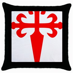 Cross Of Saint James Throw Pillow Case (black) by abbeyz71