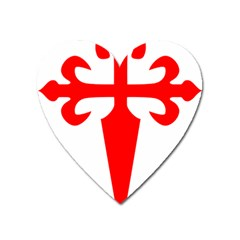 Cross Of Saint James Heart Magnet by abbeyz71