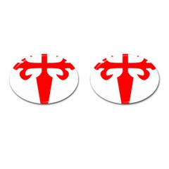 Cross Of Saint James Cufflinks (oval) by abbeyz71