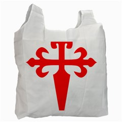 Cross Of Saint James Recycle Bag (two Side)  by abbeyz71