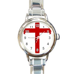 Cross Of Saint James Round Italian Charm Watch