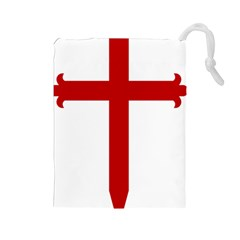 Cross Of Saint James Drawstring Pouches (large)  by abbeyz71