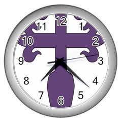 Cross Of Saint James Wall Clocks (silver)  by abbeyz71