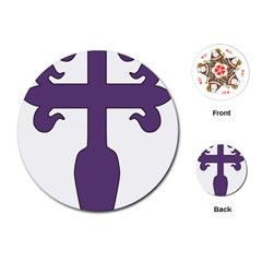 Cross Of Saint James Playing Cards (round)