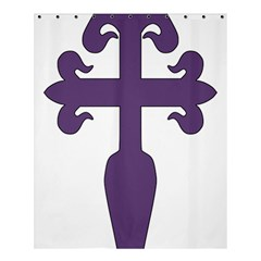 Cross Of Saint James Shower Curtain 60  X 72  (medium)  by abbeyz71