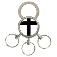 Latin Cross  3 Ring Key Chains by abbeyz71