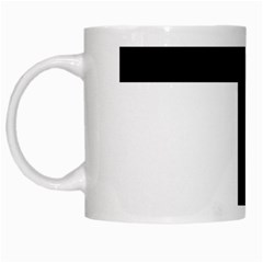 Latin Cross  White Mugs