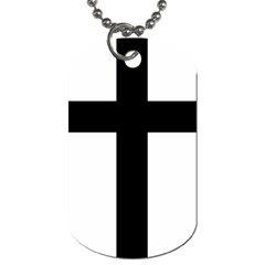 Latin Cross  Dog Tag (one Side) by abbeyz71
