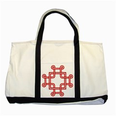 Macedionian Cross Two Tone Tote Bag by abbeyz71