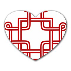 Macedonian Cross Heart Mousepads by abbeyz71