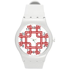 Macedonian Cross Round Plastic Sport Watch (m) by abbeyz71