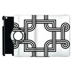 Macedonian Cross Apple Ipad 2 Flip 360 Case by abbeyz71