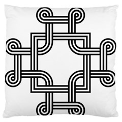 Macedonian Cross Large Flano Cushion Case (two Sides) by abbeyz71