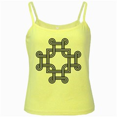 Macedonian Cross Yellow Spaghetti Tank by abbeyz71