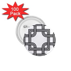 Macedonian Cross 1 75  Buttons (100 Pack)  by abbeyz71