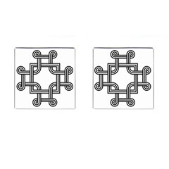 Macedonian Cross Cufflinks (square) by abbeyz71