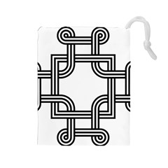 Macedonian Cross Drawstring Pouches (large)