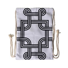 Macedonian Cross Drawstring Bag (small) by abbeyz71