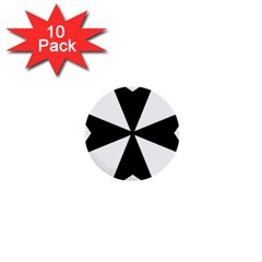 Maltese Cross 1  Mini Buttons (10 Pack)  by abbeyz71