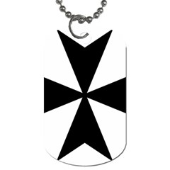 Maltese Cross Dog Tag (one Side) by abbeyz71