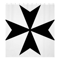 Maltese Cross Shower Curtain 66  X 72  (large)  by abbeyz71
