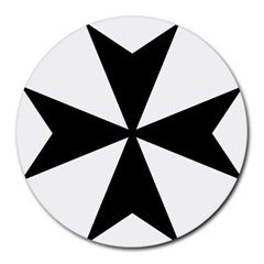 Maltese Cross Round Mousepads by abbeyz71