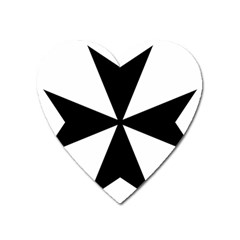 Maltese Cross Heart Magnet by abbeyz71