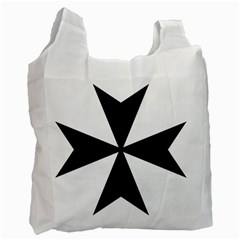 Maltese Cross Recycle Bag (one Side) by abbeyz71