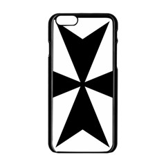 Maltese Cross Apple Iphone 6/6s Black Enamel Case by abbeyz71