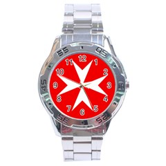 Cross Of The Order Of St  John  Stainless Steel Analogue Watch by abbeyz71