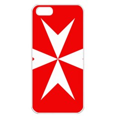Cross Of The Order Of St  John  Apple Iphone 5 Seamless Case (white) by abbeyz71