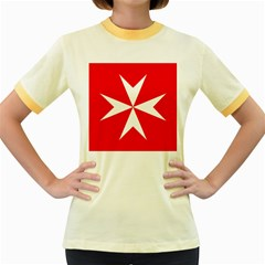 Cross Of The Order Of St  John  Women s Fitted Ringer T Shirts by abbeyz71