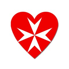 Cross Of The Order Of St  John  Heart Magnet by abbeyz71