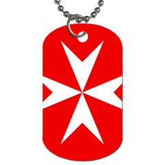 Cross Of The Order Of St  John  Dog Tag (one Side) by abbeyz71