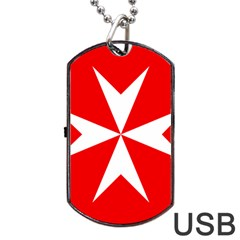 Cross Of The Order Of St  John  Dog Tag Usb Flash (one Side) by abbeyz71
