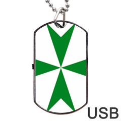 Cross Of Saint Lazarus  Dog Tag Usb Flash (two Sides) by abbeyz71