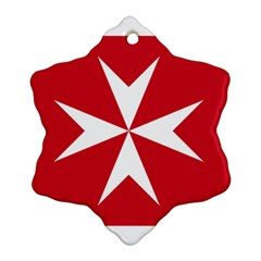 Civil Ensign Of Malta Ornament (snowflake) by abbeyz71