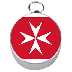 Civil Ensign Of Malta Silver Compasses by abbeyz71