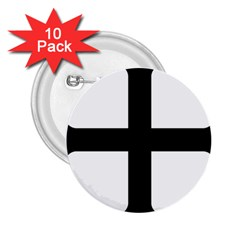 Cross Moline 2 25  Buttons (10 Pack)  by abbeyz71