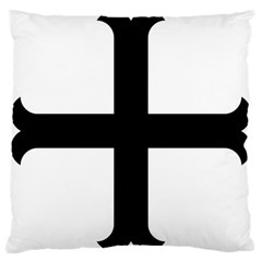 Cross Moline Large Cushion Case (two Sides) by abbeyz71