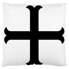 Cross Moline Large Flano Cushion Case (one Side) by abbeyz71