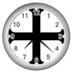 Cross Molin Wall Clocks (silver)  by abbeyz71