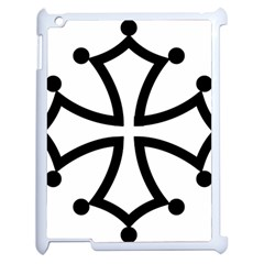 Occitan Cross\ Apple Ipad 2 Case (white) by abbeyz71