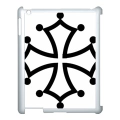 Occitan Cross Apple Ipad 3/4 Case (white) by abbeyz71